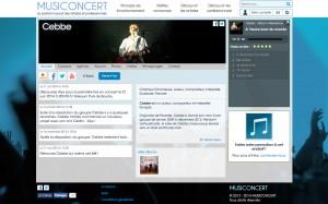 Site web d'un artiste sur Musiconcert