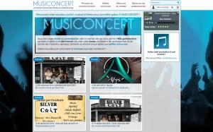 Page d'accueil avec radio, prochain événements etc.